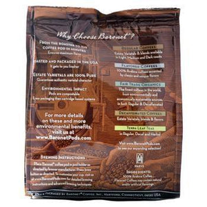 Baronet Coffee Fair Trade Organic French Roast Coffee Pods 18ct Back