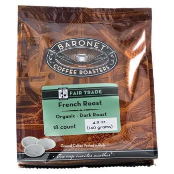 Baronet Coffee Fair Trade Organic French Roast Coffee Pods 18ct