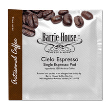 Barrie House Mocca Espresso Ground Cielo 45mm Single Espresso Pods ESE 150ct