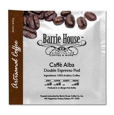 Barrie House Mocca Espresso Ground Cafe Alba 55-58mm Double Espresso Pods 150ct