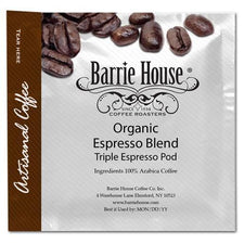 Barrie House Coffee Fair Trade Organic Triple Espresso Pods 75ct