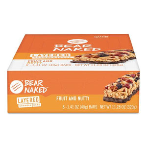Bear Naked Layered Bars Fruit and Nutty 1.41oz 8ct