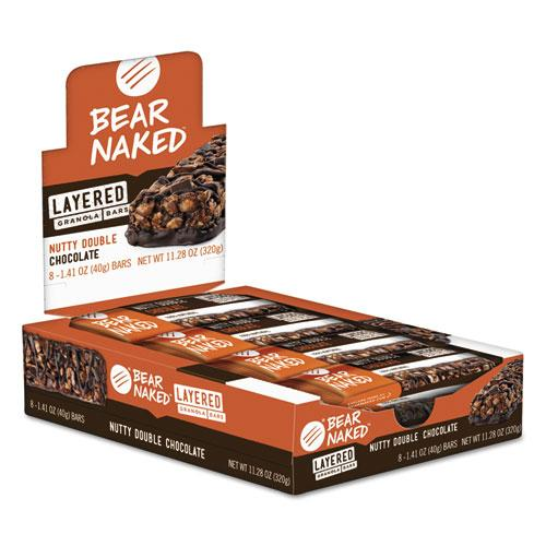 Bear Naked Layered Bars Nutty Double Chocolate 1.41oz 8ct