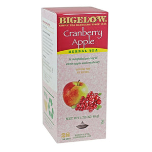 Bigelow's Cranberry Apple Herbal Caffeine Free Tea 28ct