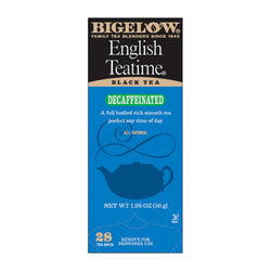 Bigelow's English Teatime Decaf Tea 28ct Box