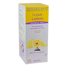 Bigelow's I Love Lemon Herbal Caffeine Free Tea 28ct Box