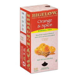 Bigelow's Orange & Spice Herbal Caffeine Free Tea 28ct Box