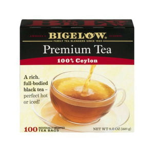 Bigelow's Premium Black Tea 100% Ceylon Tea 100ct Box
