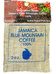 Jamaica Blue Mountain Ground Coffee 2oz Burlap Bag