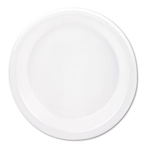 Boardwalk 10 1-4 Inch White Non-Laminated Foam Plates 500ct