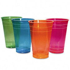 Boardwalk 16oz Polystyrene Mixed Colors Plastic Cups 840ct