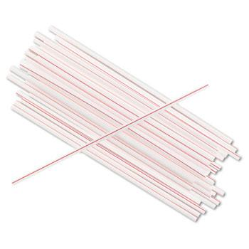 "Boardwalk 5 1-4"" White Red Coffee Stir Sticks 10000ct"
