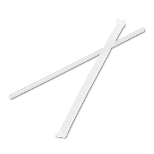 "Boardwalk 7 3-4"" Wrapped Jumbo Straws 12,000ct"