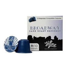 HiLine Coffee Broadway Dark Roast Nespresso Compatible Capsules 60ct