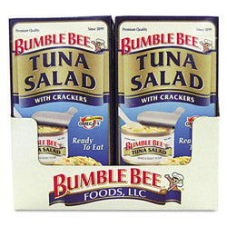 Bumble Bee On-The-Go Tuna Salad with Crackers 12 3.5oz Boxes