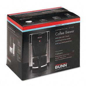 Bunn HBXB Stainless Steel and Black 10-Cup Professional Home Coffee Brewer