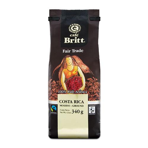 Cafe Britt Costa Rica Fair Trade Ground Coffee 12oz Bag