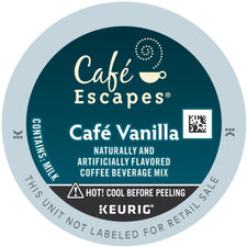 Café Escapes Café Vanilla K-Cup Pods 96ct