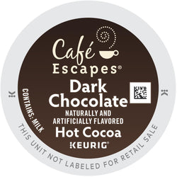 Café Escapes Dark Chocolate Hot Cocoa K-Cups 96ct
