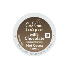 Café Escapes Milk Chocolate Hot Cocoa K-Cups 24ct | Expired