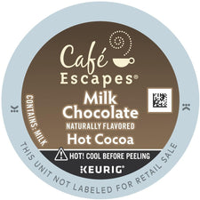 Café Escapes Milk Chocolate Hot Cocoa K-Cup Pods 96ct