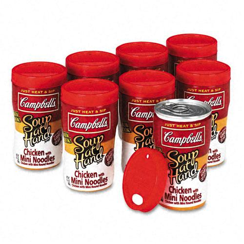 Campbell's Microwaveable Chicken with Mini Noodles Soup-At-Hand 8ct Box