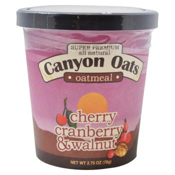 Canyon Oats Cherry Cranberry Walnut Instant Oatmeal To-Go
