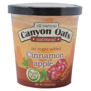 Canyon Oats Cinnamon Apple with Walnuts Instant Oatmeal To-Go