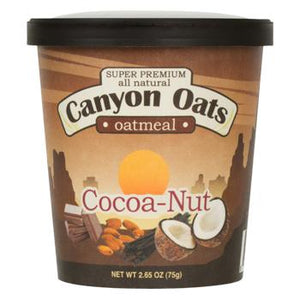 Canyon Oats Cocoa-Nut Instant Oatmeal To-Go