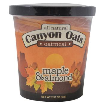 Canyon Oats Maple Almond Oatmeal To-Go