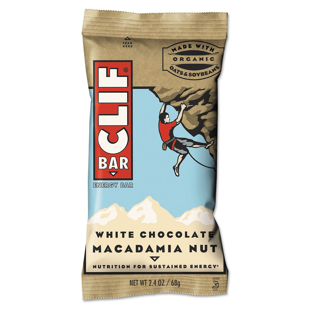 CLIF Bar White Chocolate Macadamia Nut Energy Bar 12ct