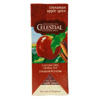 Celestial Seasonings Cinnamon Apple Spice Caffeine Free Tea 25ct