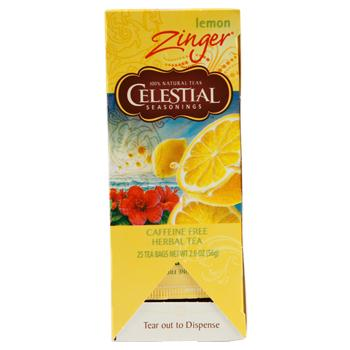 Celestial Seasonings Lemon Zinger Caffeine Free Tea 25ct