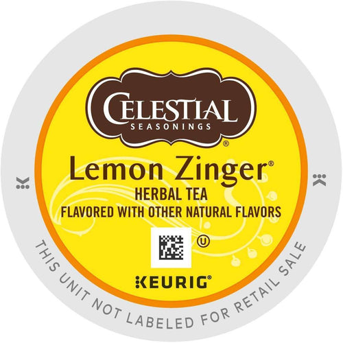 Celestial Seasonings Lemon Zinger Herbal Tea K-Cups 24ct
