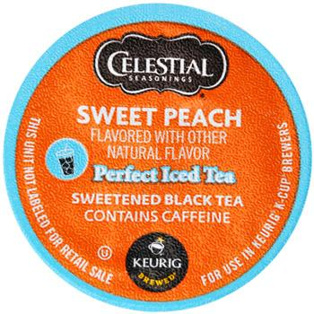 Celestial Seasonings Perfect Iced Tea Sweet Peach Black Tea K-Cup® Pods 24ct