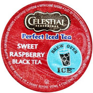 Celestial Seasonings Perfect Iced Tea Sweet Raspberry Black Tea K-Cup® Pods 24ct