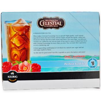 Celestial Seasonings Perfect Iced Tea Sweet Raspberry Black Tea K-Cup® Pods 96ct