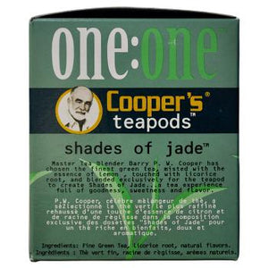Coopers Teapods Shades Of Jade Coffee Pods 18ct Side Left
