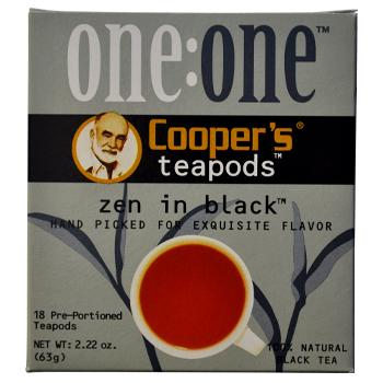 Coopers Teapods Zen In Black Coffee Pods 18ct Back