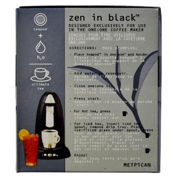 Coopers Teapods Zen In Black Coffee Pods 18ct Side Left