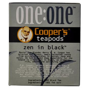 Coopers Teapods Zen In Black Coffee Pods 18ct Side Right