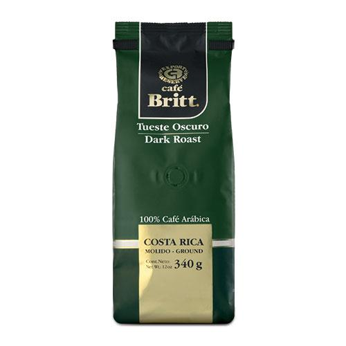Cafe Britt Costa Rican Dark Roast Gourmet Whole Bean Coffee 12oz Bag