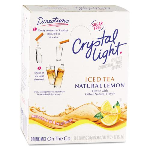 Crystal Light On The Go Iced Tea Drink Mix 30 Packets
