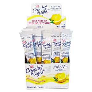 Crystal Light on The Go Lemonade Drink Mix 30 Packets