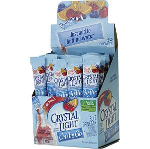 Crystal Light On the Go Fruit Punch Drink Mix 30 Packets
