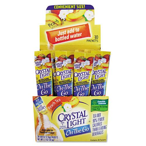 Crystal Light on The Go Peach Tea Drink Mix 30 Packets