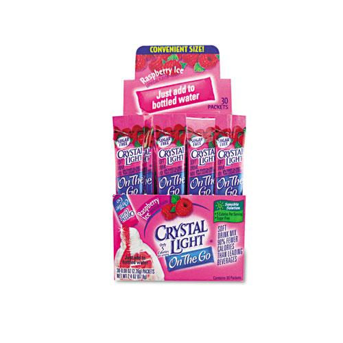 Crystal Light on The Go Raspberry Ice Drink Mix 30 Packets