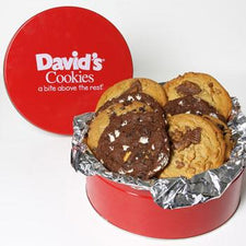 David's Cookies Assorted Fresh Baked Decadent 2lb Tin