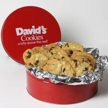 David's Cookies Cherry with White Chocolate Chips 2lb Tin