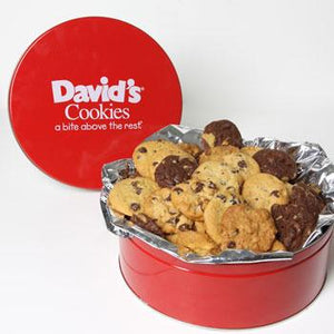David's Cookies Fresh Baked Mini Bites 2lb Tin